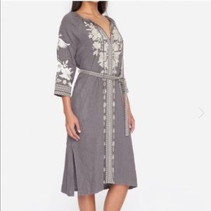 Johnny Was Embroidered Linen Dress